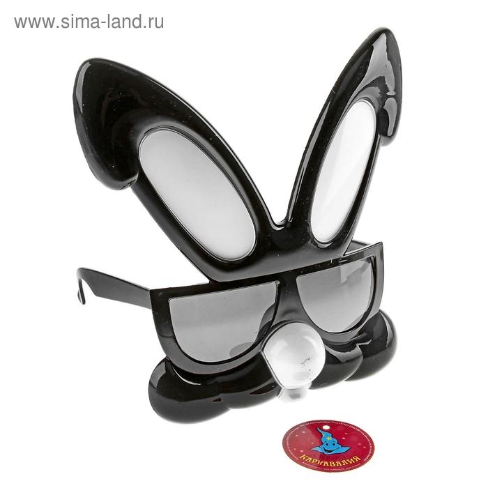 "Очки-маска ""Заяц"", цвет чёрный"