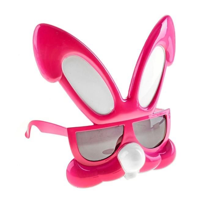 """Очки-маска """"Зайчонок"""", цвет ярко-розовый"""