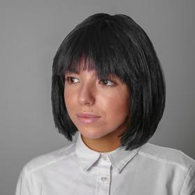 Карнавальный парик «Каре», обхват головы 56-58 см, цвет чёрный, 100 г в Донецке