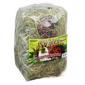 Сено луговое прессованное с шиповником, пакет 500 гр Ош