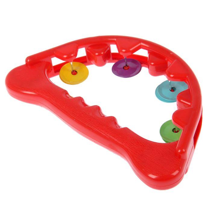 Игрушка музыкальная бубен «Радуга», цвета МИКС