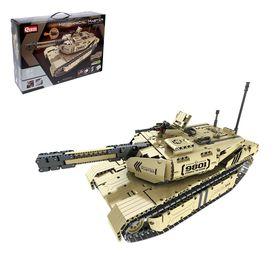 "Designer radio-controlled ""tank Battle"", 1276 parts, shoots missiles"