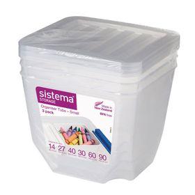Набор органайзеров Sistema, по 1,3 л, 3 шт.