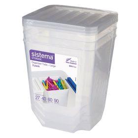 Набор органайзеров Sistema, по 1,8 л, 3 шт.