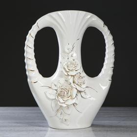 "Ваза напольная ""Клеопатра"", белая, лепка, 45 см - фото 1703662"
