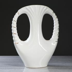 "Ваза напольная ""Клеопатра"", белая, лепка, 45 см - фото 1703664"