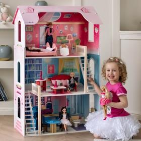 Кукольный домик «Вдохновение», (16 предметов мебели, 2 лестницы)