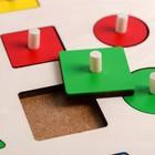 Рамка - вкладыш «Геометрические формы» 16 деталей - фото 105593557