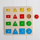 Рамка - вкладыш «Геометрические формы» 16 деталей - фото 105593558
