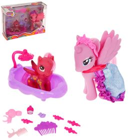 Pony Diva with the baby in the bathtub with accessories, MIX