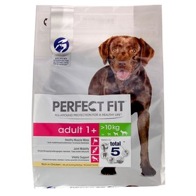 Сухой корм Perfect Fit для собак средних и крупных пород, курица, 2,6 кг