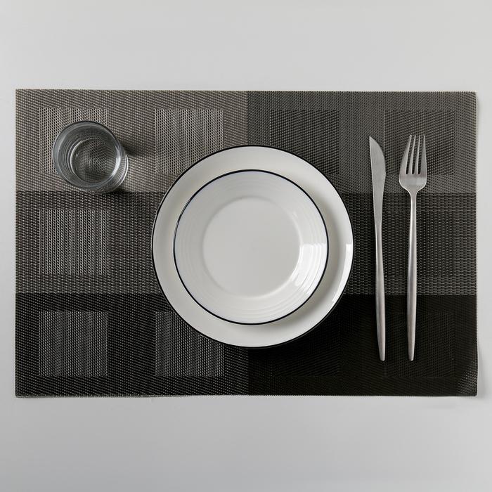 """Салфетка кухонная """"Окна"""" 45х30 см, цвет серый"""