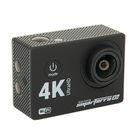 Экшн камера Smarterra W5+, Пульт ДУ, 4K, 30fps, дисплей, угол обзора 170, WIFI, черный
