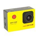 Экшн камера Smarterra W4, 1080P, 30fps, дисплей, угол обзора 170, WIFI, желтый