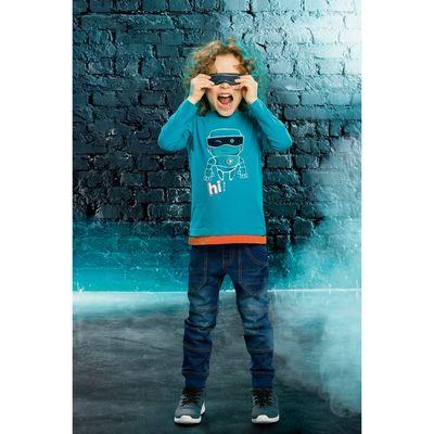 Брюки для мальчика, рост 110 см, цвет голубой BWP3025/2