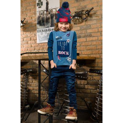 Брюки для мальчика, рост 110 см, цвет тёмно-синий BWP3027/2
