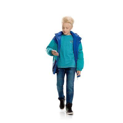 Брюки для мальчика, рост 122 см, цвет голубой