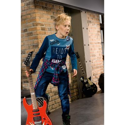 Брюки для мальчика, рост 146 см, цвет тёмно-синий