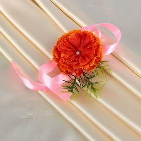 Бутоньерка «Муж», оранжевая Ош