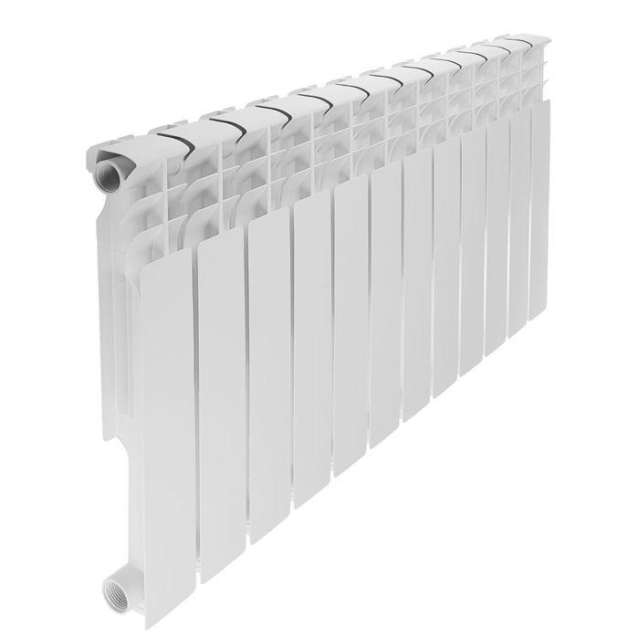 Радиатор алюминиевый REMSAN Professional, 500х80 мм, 12 секций