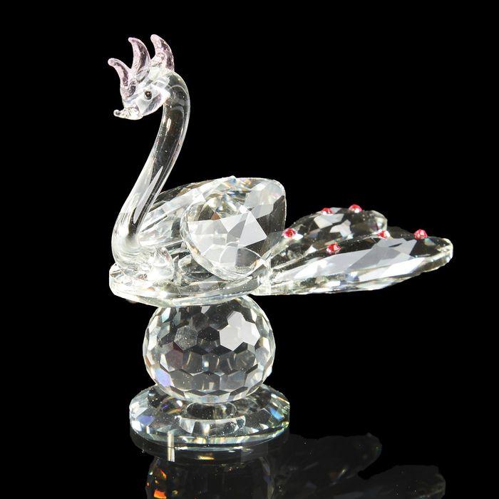 """Сувенир стекло """"Павлин на шаре"""" 12,5х14х5,5 см"""