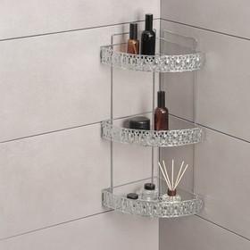 Corner shelf 3-tiered