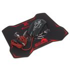 Игровой набор Xtrike Me GMP-501, мышь+коврик, проводной, оптический, 3200 dpi,черно-красный