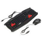 Игровой набор Xtrike Me MK-801, клавиатура+мышь, проводной, мембранная, 2400 dpi,USB,черный