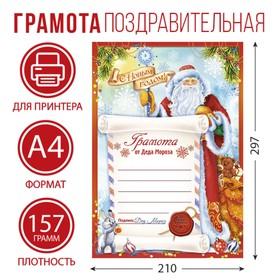 """Diploma of Christmas """"From Santa Claus"""""""