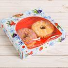 Коробочка для пончиков «Снежное утро», 20 х 20 х 5 см