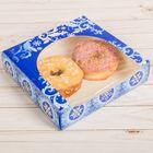 Коробочка для пончиков «Гжель», 20 х 20 х 5 см
