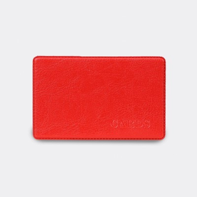 Hard case for travel ticket, color red