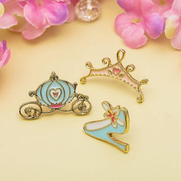 """Набор значков """"Принцесса"""", разноцветный в золоте"""