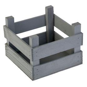 Ящик с рейками, 16 х 16 х 12 см, серый