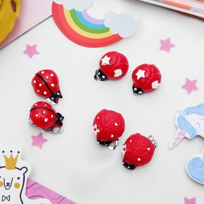 "Clips baby ""Vibracula"" ladybug with patterns, color red-white, form MIX"
