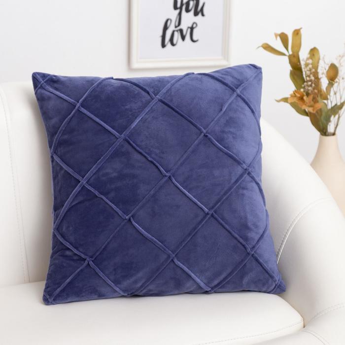 Наволочка декоративная Этель «Соло» цвет синий, размер 45х45 см - фото 1746258