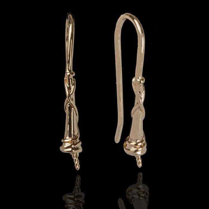 Швензы-крючки со штифтом (2 пары), цвет золото