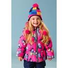 """Комплект утеплённый для девочки """"Клеточка"""" (шапка, шарф), р-р 50, цвет розовый - фото 76213470"""