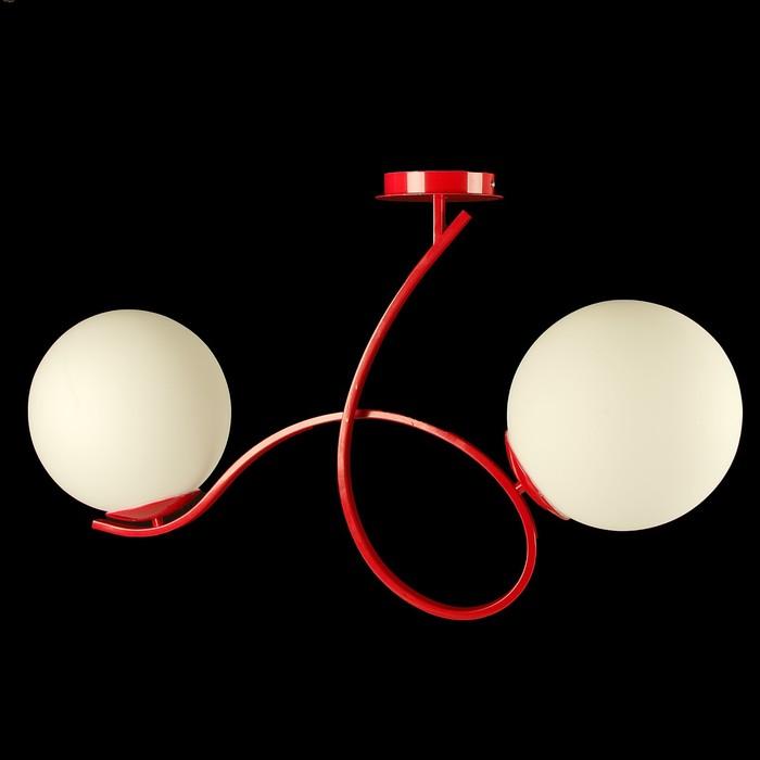 Светильник потолочный «Мальва» 1910/2 + 36 R, Е27, 2 × 60 Вт, 50 × 78 × 25 см