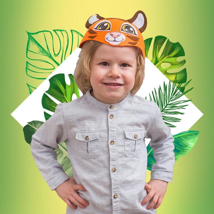 Карнавальная шляпа «Тигр», р-р. 52-54 - фото 1746304