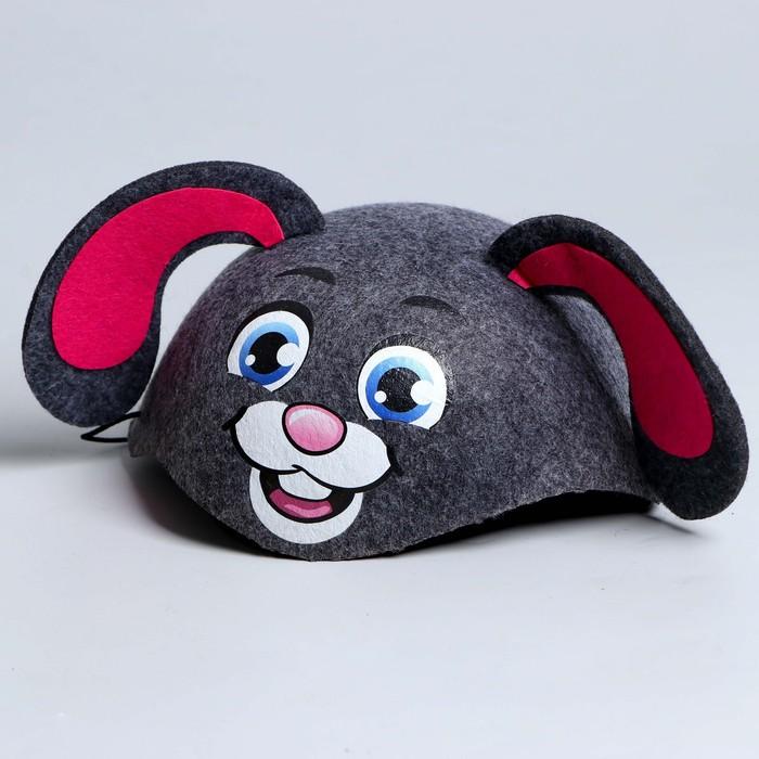 Карнавальная шляпа «Зайка», р-р. 52-54