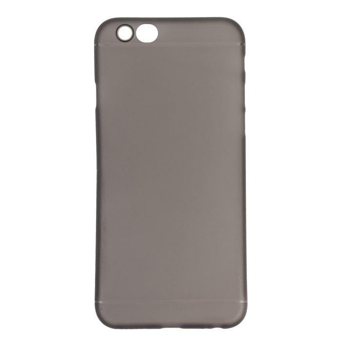 Чехол Luazon для iPhone 6/6S, материал PP, чёрный (т/серый)
