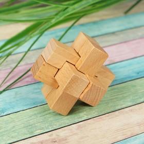 Головоломка деревянная мини № 3