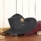 """Ковбойская шляпа """"Шериф"""", р-р. 56-58, цвет чёрный"""