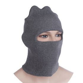 Шлем-маска 1 отверстие, цвет серый Ош