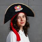 """Шляпа пиратская """"Принцесса пиратов"""", детская, фетр, р-р 52-54"""