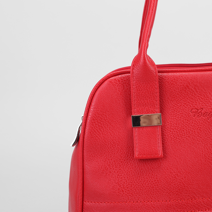 Сумка жен В2354, 32*11*21, 3 отд на молниях, н/карман, красный