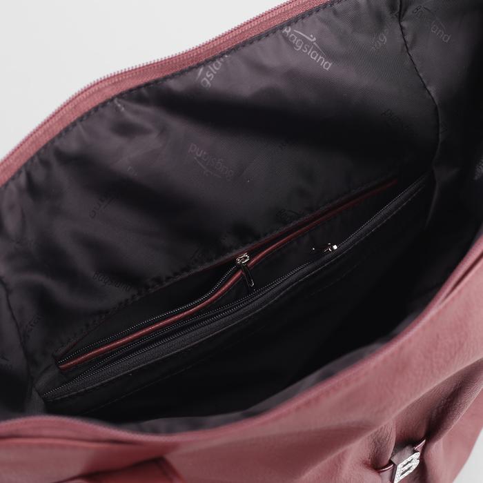 Сумка жен В2378, 35*11*33, отд с перег на молнии, н/карман, бордовый