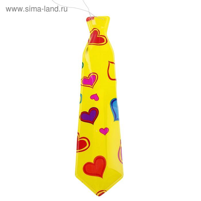 """Карнавальный галстук """"Сердечки"""", набор 6 шт."""