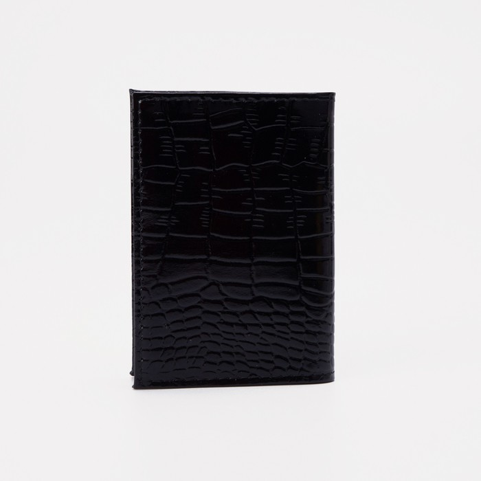 Визитница вертикальная, 18 листов, цвет чёрный